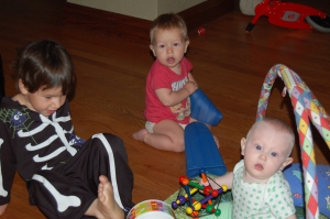 Charlie with his cousins